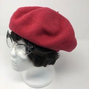 e51f43386e Vintage Accessories - VINTAGE RASPBERRY BERET TAM HAT